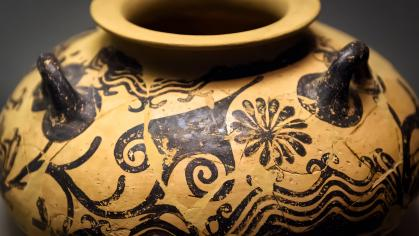 Painted archeological pottery